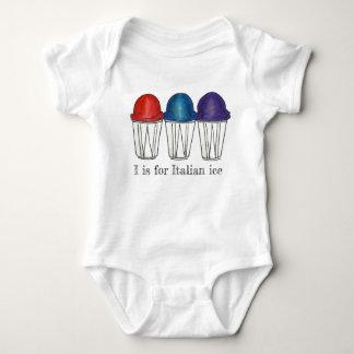 Body Para Bebé I está para la comida afeitada hielo italiano del