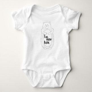 Body Para Bebé I nuevo aquí mono del bebé con el oso