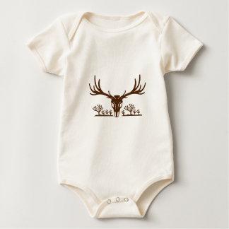 Body Para Bebé Icono de la yuca del cráneo del ciervo mula