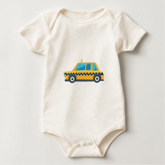 Body Para Bebé Icono lindo del coche del juguete amarillo del