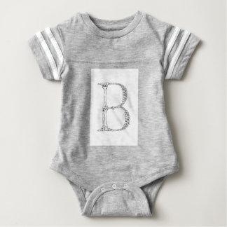 Body Para Bebé Inicial del hueso de la letra B