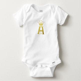 Body Para Bebé Inicial del oro un mono del bebé del monograma de