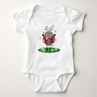 Body Para Bebé Insecto rojo manchado chica de la mariquita de la