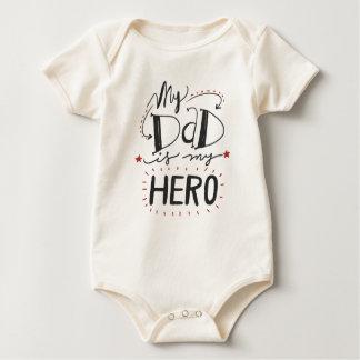 Body Para Bebé Inspirado mi papá es mi mono del héroe el |