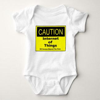 Body Para Bebé Internet de la señal de peligro de la precaución