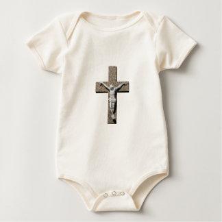 Body Para Bebé Jesuschrist en una escultura cruzada