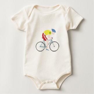 Body Para Bebé Jinete lindo de la bici del dibujo animado del
