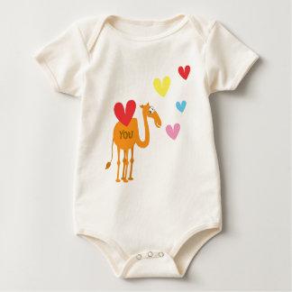 Body Para Bebé Juego lindo del bebé con el camello