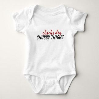 Body Para Bebé Juego rechoncho del cuerpo del bebé de los muslos