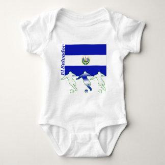 Body Para Bebé Jugadores de fútbol - El Salvador