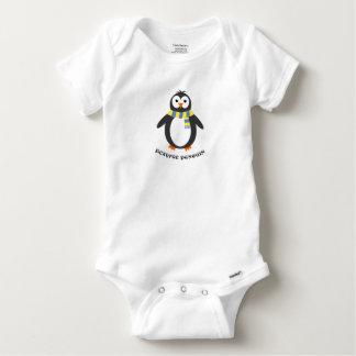 Body Para Bebé Juguetón lindo del pingüino del invierno