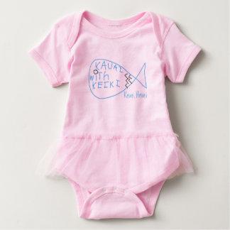 Body Para Bebé Kauai con la una pieza del tutú de Keiki para el
