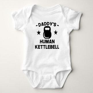 Body Para Bebé Kettlebell humano del papá