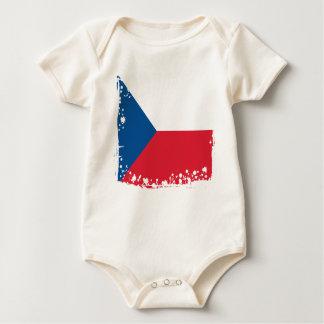 Body Para Bebé La bandera abstracta de la República Checa, Checo