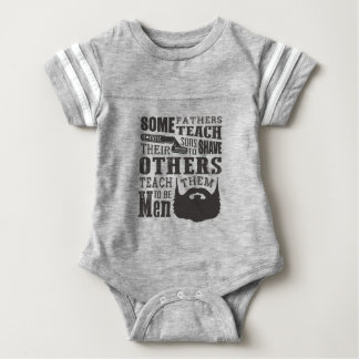 Body Para Bebé La barba, algún padre enseña para afeitar otros