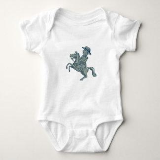Body Para Bebé La caballería americana manda el coche Prancing