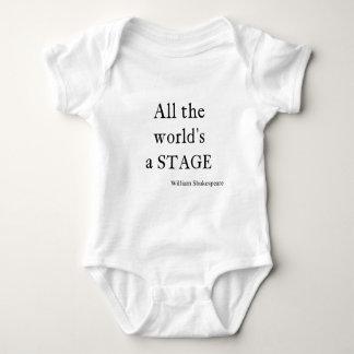 Body Para Bebé La cita de Shakespeare todo el mundo es citas de