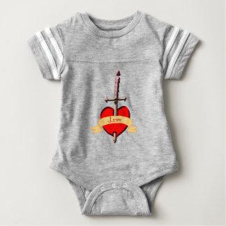 Body Para Bebé la daga del amor perforó el corazón
