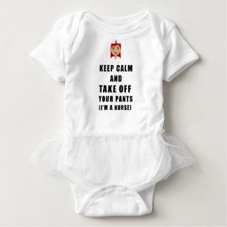 Body Para Bebé la enfermera, saca sus pantalones