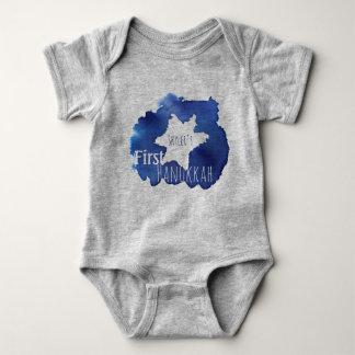 Body Para Bebé La estrella azul de la acuarela de David resiste