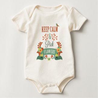 Body Para Bebé La inspiración mantiene mono tranquilo y de la