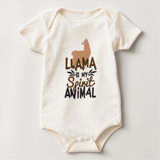 Body Para Bebé La llama linda es mi estampado de animales del