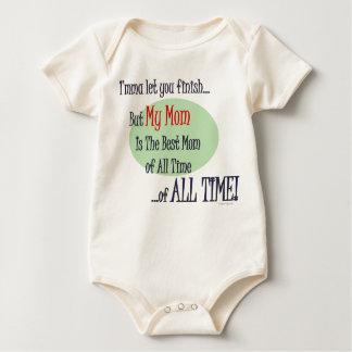 Body Para Bebé La mejor mamá de TODA LA ropa del bebé del TIEMPO