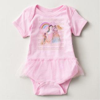 Body Para Bebé La música de princesa Rainbow del unicornio