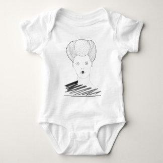 Body Para Bebé La reina del botón