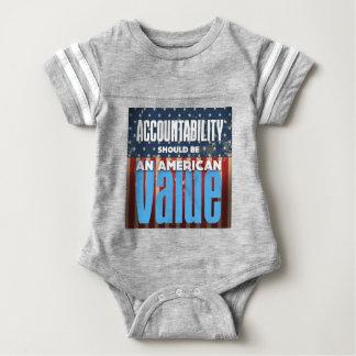 Body Para Bebé La responsabilidad debe ser un valor americano,