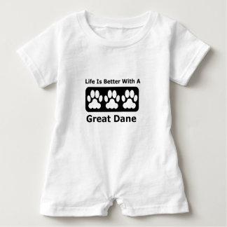 Body Para Bebé La vida es mejor con great dane