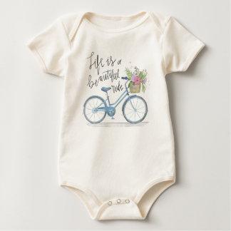 Body Para Bebé La vida inspiradora es un mono hermoso del paseo