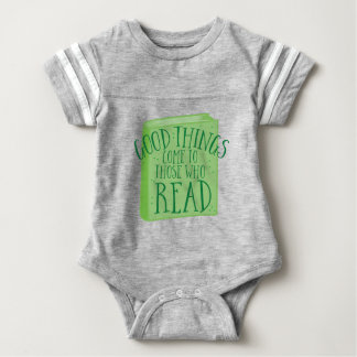 Body Para Bebé las buenas cosas vienen a las que lean