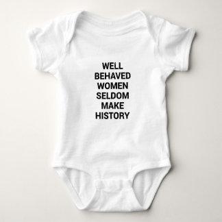 Body Para Bebé Las mujeres bien comportadas hacen raramente