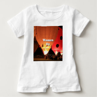 Body Para Bebé Las mujeres vuelan: globo 2 del aire caliente