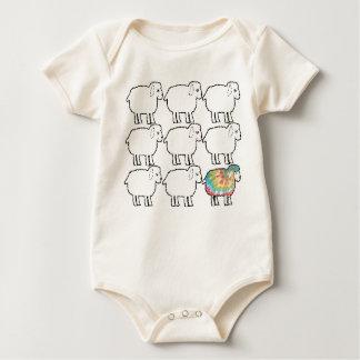 Body Para Bebé las ovejas no tan negras