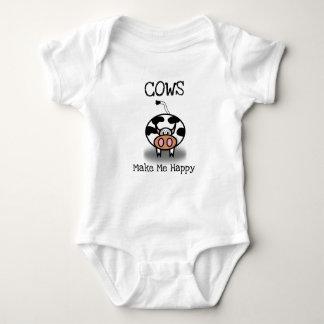 Body Para Bebé Las vacas me hacen feliz