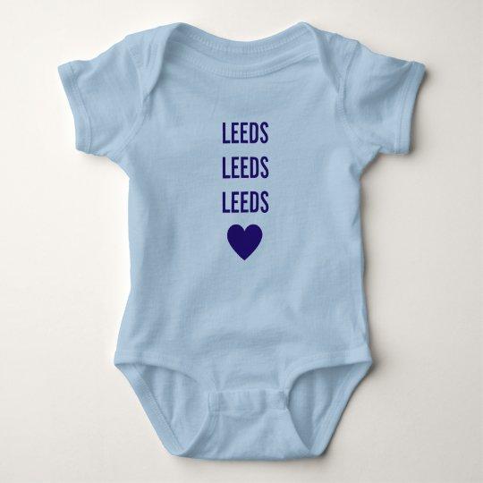 Body Para Bebé LEEDS LEEDS LEEDS Babygrow azul personalizado LUFC