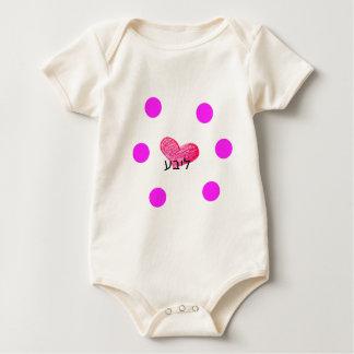 Body Para Bebé Lengua jídish del diseño del amor
