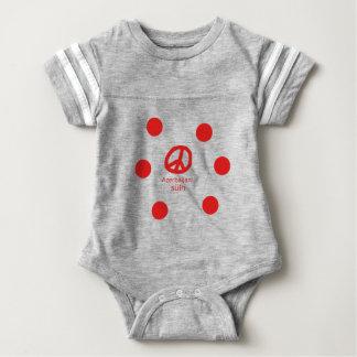 Body Para Bebé Lengua y diseño azerbaiyanos del símbolo de paz