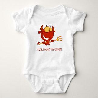 Body Para Bebé Lindo es solamente mi dibujo animado del diablo