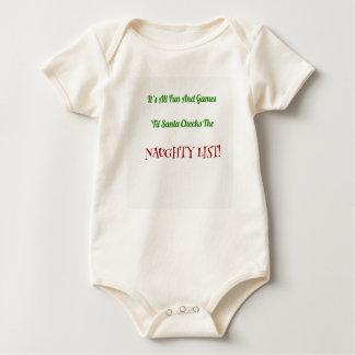 Body Para Bebé Lista traviesa del navidad chistoso decorativa