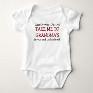 Body Para Bebé Lléveme al mono del niño del bebé de la abuela