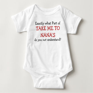 Body Para Bebé Lléveme al mono del niño del bebé de Nana