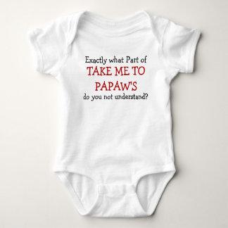 Body Para Bebé Lléveme al mono del niño del bebé del Papaw