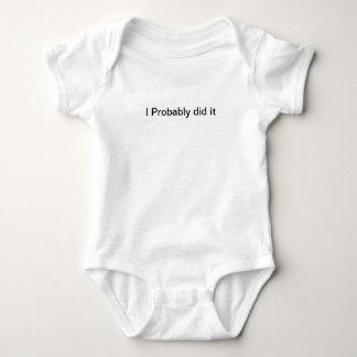 Body Para Bebé Lo hice probablemente