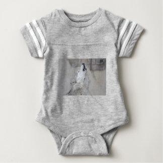 Body Para Bebé Lobo gris del grito