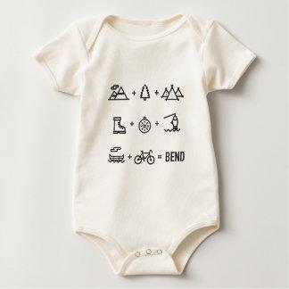 Body Para Bebé Logotipo de la ecuación de las actividades de