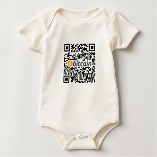 Body Para Bebé Logotipo y dirección de Bitcoin