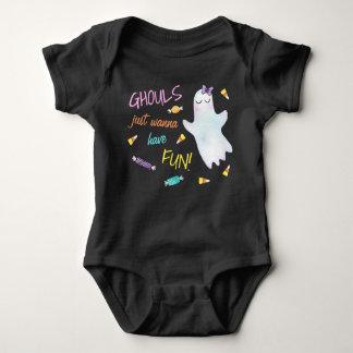 Body Para Bebé Los espíritus necrófagos apenas quieren divertirse